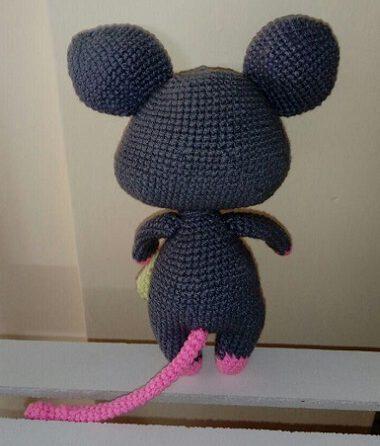 عروسک _بافتنی_موش